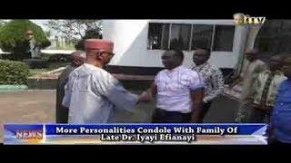 Chief Oyegun condole with family of Late Dr. Iyayi Efianayi