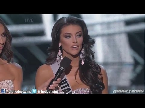 Miss Utah Gives Horrible Answer During 2013 Miss USA Pageant Reaction