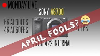 Sony a6700, Sony a8s, Sony 20-50mm F2 GM and more April 1 News: Monday Live