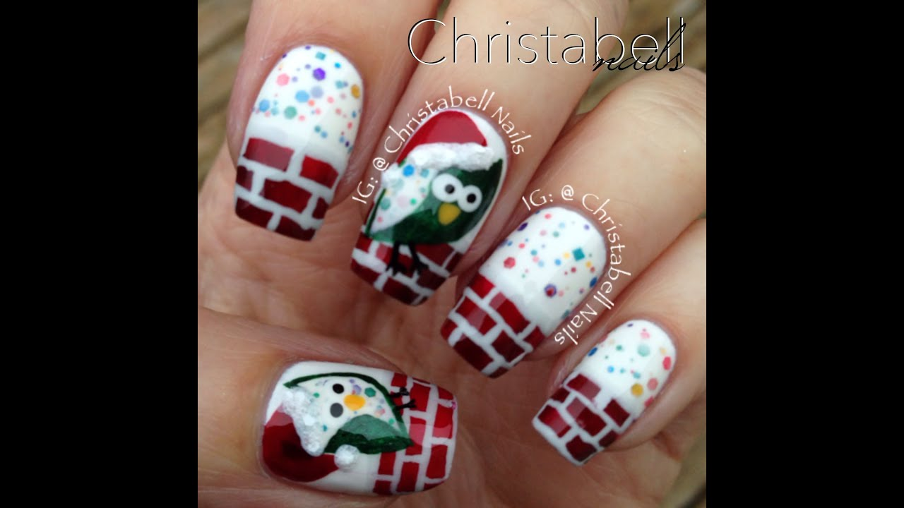 Christabellnails christmas owl nails tutorial youtube