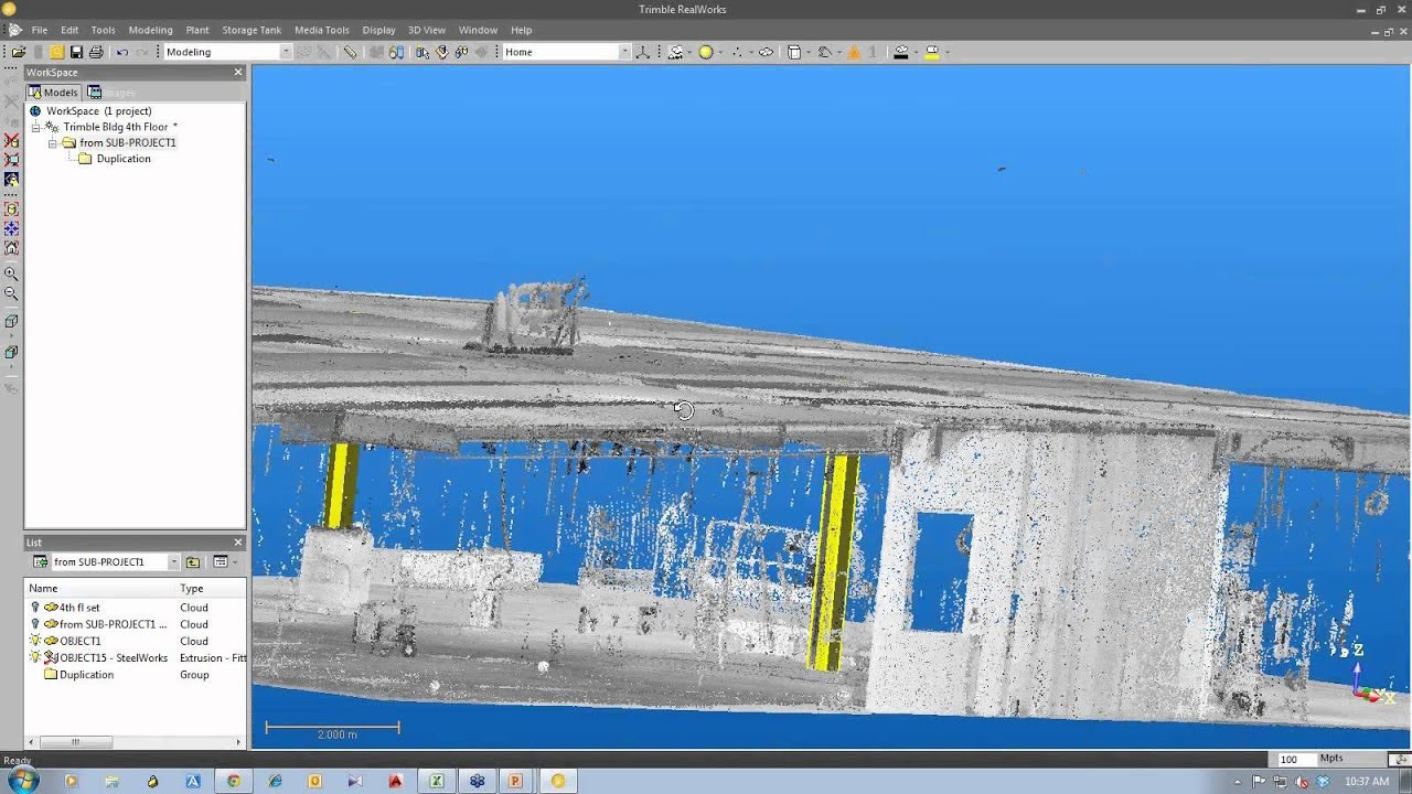 ... 3D Models from 3D Point Clouds Using Trimble RealWorks - YouTube
