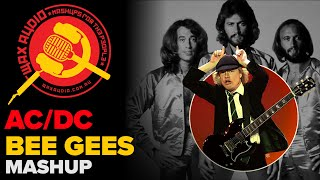 Stayin` In Black The Bee Gees + ACDC Mashup By Wax