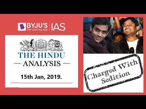 'The Hindu' Analysis for 15th Jan, 2019. (Current Affairs for UPSC/IAS )