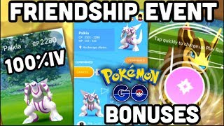 FRIENDSHIP EVENT IN POKEMON GO | 100%IV PALKIA | TWILIGHT CUP TEST BATTLES
