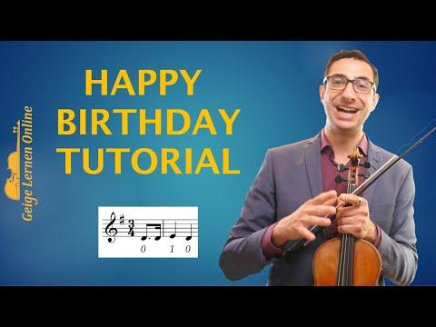 Happy Birthday auf der Geige spielen (Anfänger Tutorial und Noten)