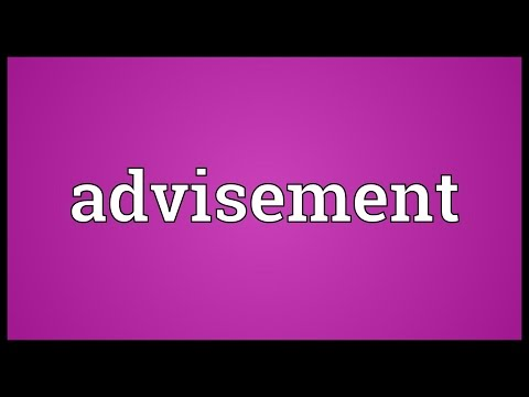 Header of advisement