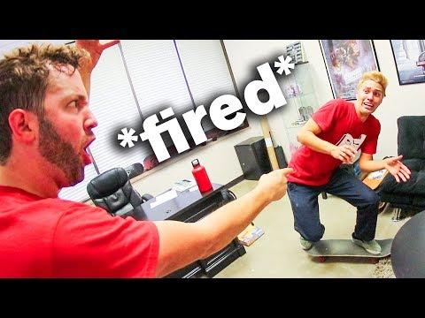 SKATING IN MY BOSS'S OFFICE! *I got fired*