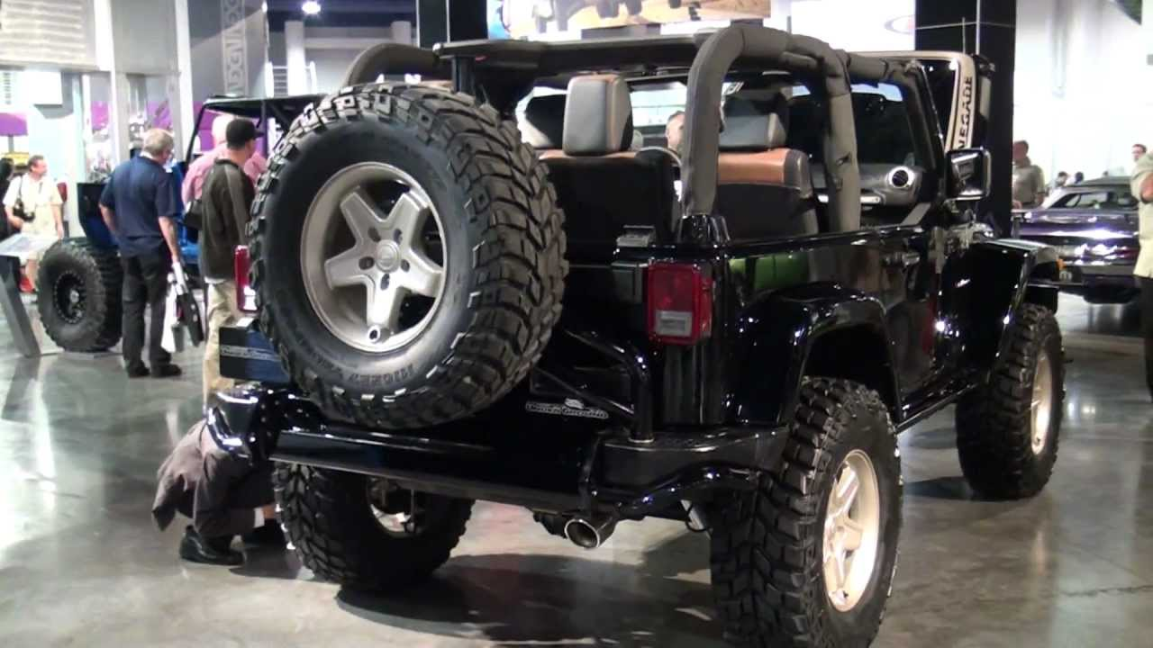 Lifted Jeep Renegade >> 2011SEMA Jeep WRANGLER RENEGADE - YouTube