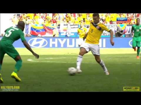 Juan Quintero Goal Colombia vs Ivory Coast World Cup 2014