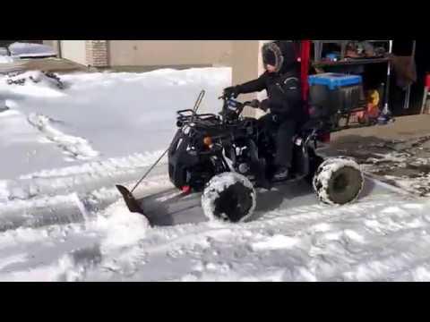 TaoTao 125D ATV  Snow Plow on mini ATV