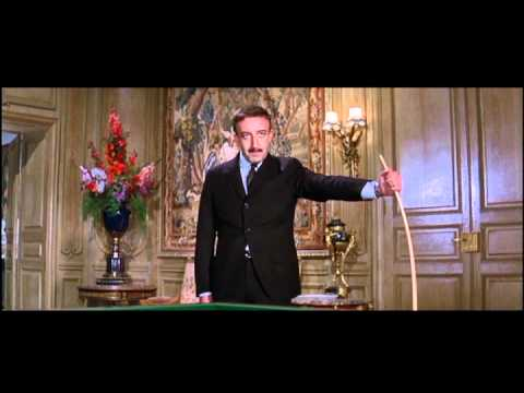Inspector Clouseau plays billiards