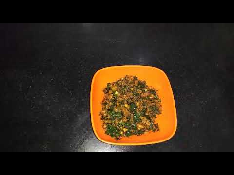 Drumstick leaves fry (munagaku fry) easy, tasty, recipe