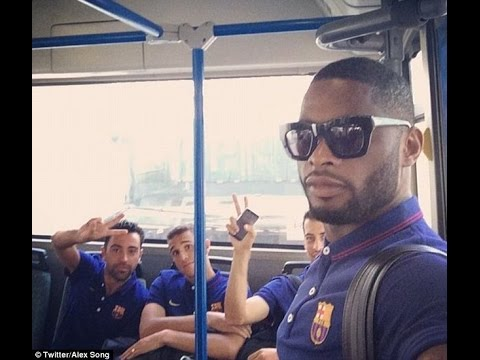 Gerard Pique doesn't look too impressed as Barcelona arrive at £105m