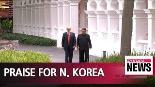 Trump praises N. Korea's potential, 'good chemistry' with Kim Jong-un: report