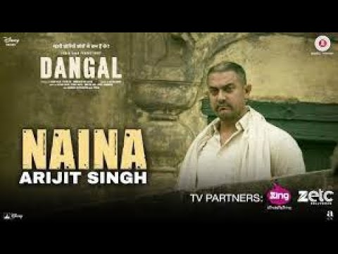 Naina Song By Shahzan Mujeeb with lyrics  - Dangal Movie | Indian Idol 8 Contestant | Amir