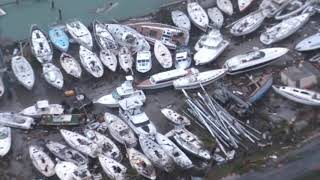 Aerial footage shows devastation in Sint Maarten after Hurricane Irma