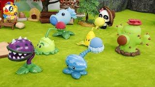 可怕的僵尸入侵妙妙的農場,妙妙召喚植物大戰僵尸  寶寶玩具   兒童玩具   玩具巴士