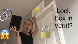 FINDING MISSING SPY GADGET IN VENT!! (Mystery Lock Box)