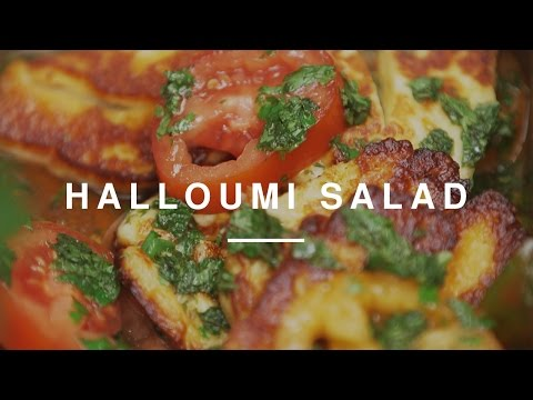 Halloumi & Tomato Salad - Laura Whitmore & Gizzi Erskine | Wild Dish
