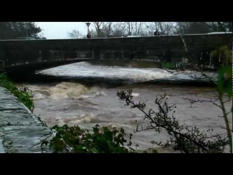 Bridge of Allan flooding 29.11.2011