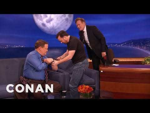 "Ricky Gervais Teaches Conan & Andy To Play ""A**hole Or Elbow""  - CONAN on TBS"