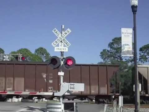 2 trains at th LoveST crossing in Folkston GA