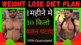 Weight Loss Diet Plan    Best Meal Plan to Reduce your Body fat    Homemade Weight Loss Meal Plan