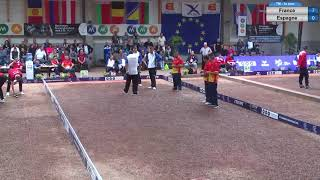 Petanque EK  2017 Spanje tegen Frankrijk