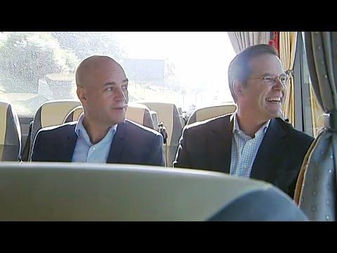 Borg och Reinfeldt - bästa vänner - Nyheterna (TV4)