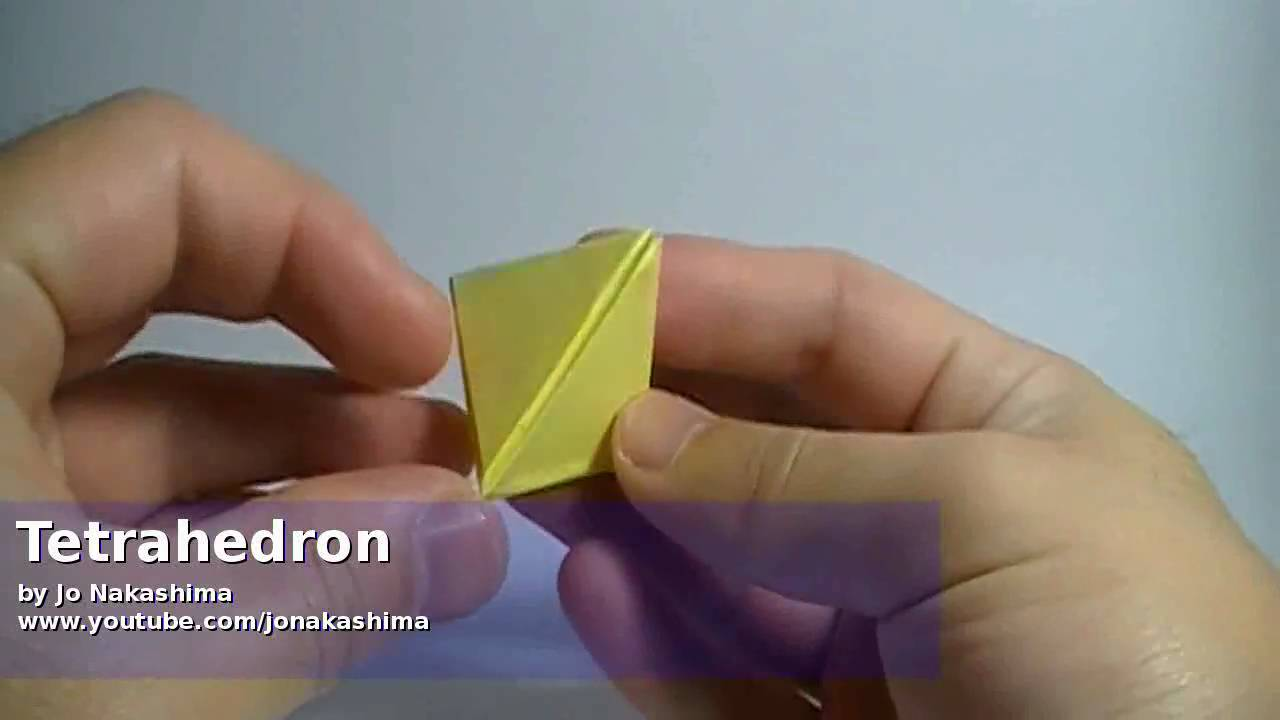 How to Fold a tetrahedron with modular origami  Origami