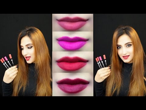Sugar Matte As Hell Crayon Lipstick Review & Swatches - All Shades!   Aishwarya Kaushal