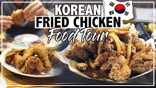BEST Korean Fried Chicken KFC FOOD TOUR   Seoul Korea Travel
