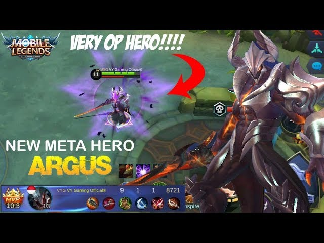 New Meta Hero ARGUS Gameplay | This hero is So OverPowered + New Map - Mobile Legends