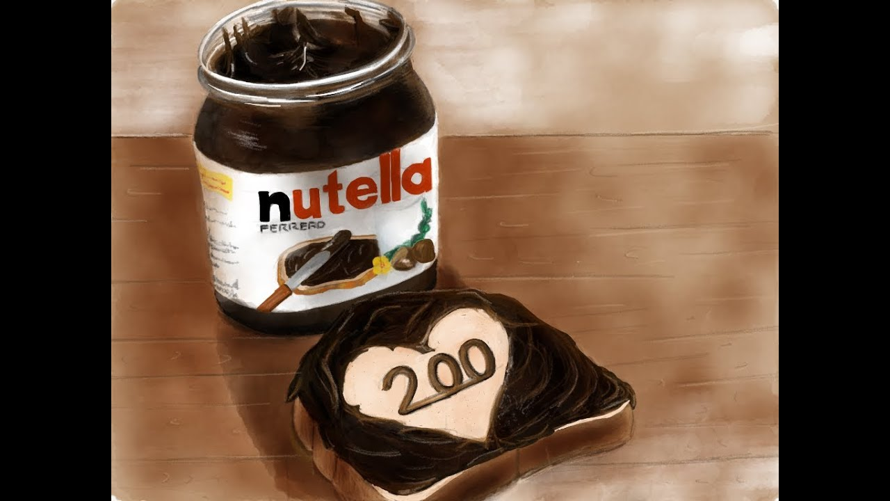 Jars Drawing How to Draw Nutella Jar With