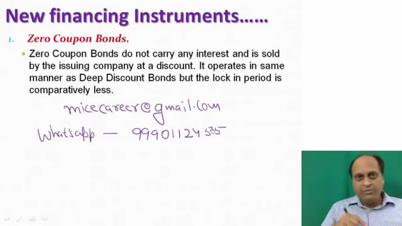 Zero Coupon Bonds Zero Coupon Bond