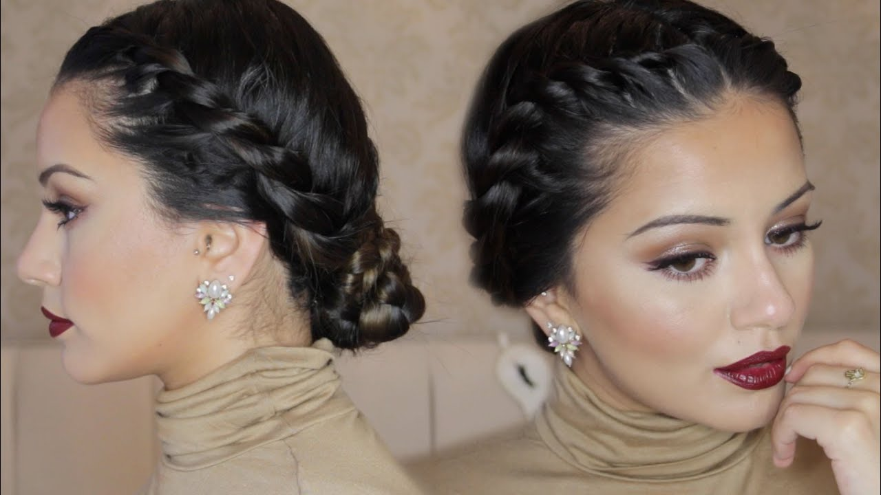 Twisted Crown Braid Up-Do Hair Tutorial | Kaushal Beauty