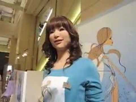 Japanese robotic technology featuring human-like robot