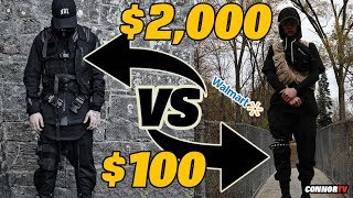$2,000 vs $100 Techwear Outfit Challenge DIY at Walmart