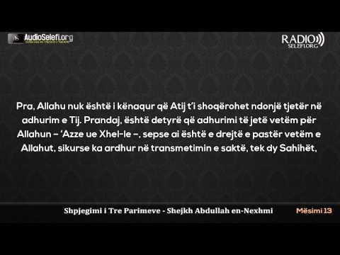 Shpjegimi i Tre Parimeve nga shejkh Abdullah En-Nexhmi - Mësimi 13