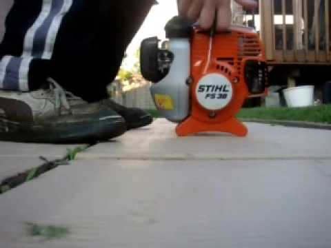 Cold Start the Stihl FS-38 Trimmer