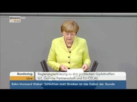 Regierungserklärung von Angela Merkel zu G7 und EU-CELAC am 21.05.2015