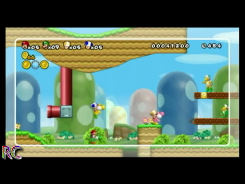 New Super Mario Bros. Wii [NSMB] World 1-3 Super Skills