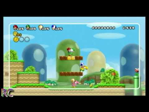 New Super Mario Bros. Wii [NSMB] World 1-3 Super Skills Video