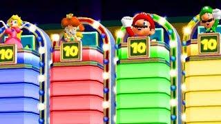 Mario Party 9 - Mario vs Peach vs Luigi vs Daisy - Minigames - Master CPU