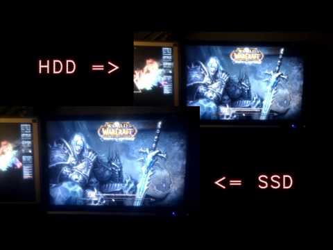 speed comparison OCZ vertex 2 SSD vs HDD