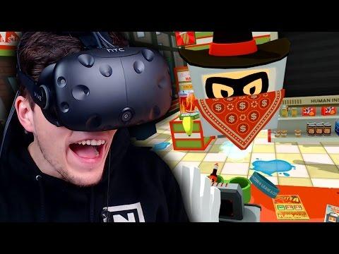 HILFE! MEIN SUPERMARKT WIRD ÜBERFALLEN! ✪ JOB SIMULATOR Virtual Reality