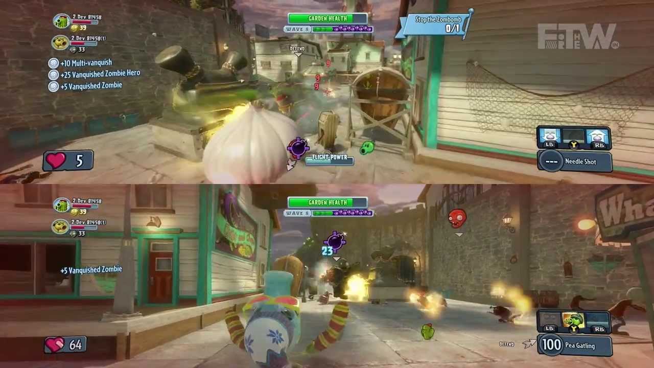 Plants Vs Zombies Garden Warfare Split Screen Co Op On Xbox One Ftw January 2014 Youtube