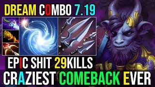 EPIC COMEBACK WITH EPIC COMBO IO+RIKI Craziest Game From Feeder to God 29Kills 7.19 Dota 2 Highlight