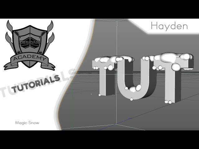 How to use magic snow in Cinema 4D | w/ Hayden