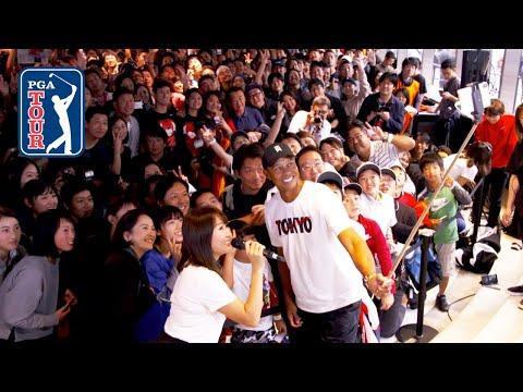 Tiger Woods visits Tokyo ahead of ZOZO CHAMPIONSHIP